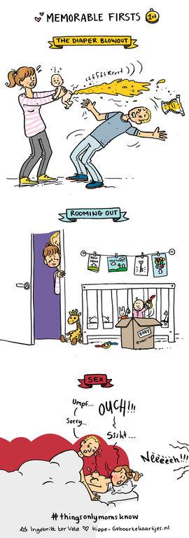 Η ζωή μίας νέας μαμάς μέσα από αστεία, αλλά τόσο αληθινά, σκίτσα