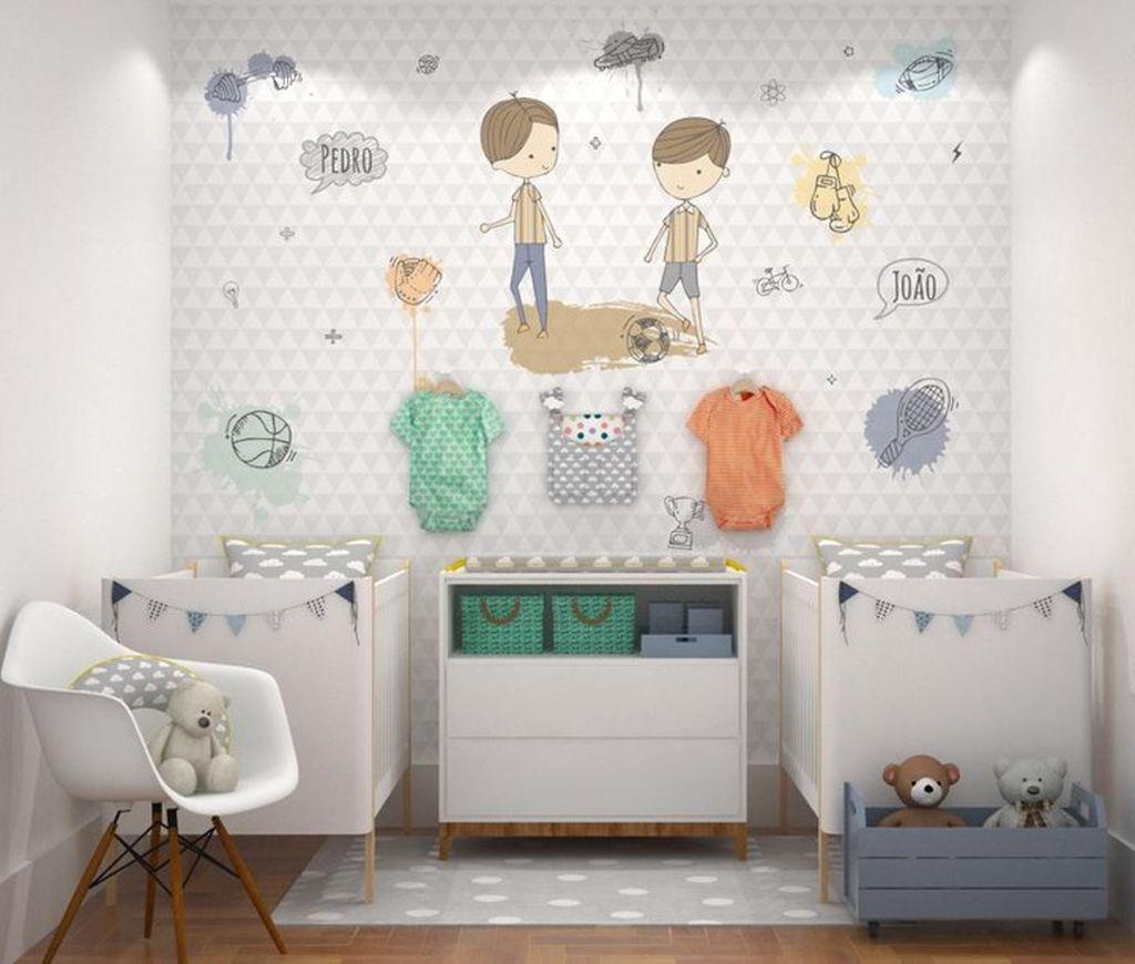 Βρεφικό δωμάτιο για δίδυμα: Πρακτικές ιδέες που θα σας βολέψουν