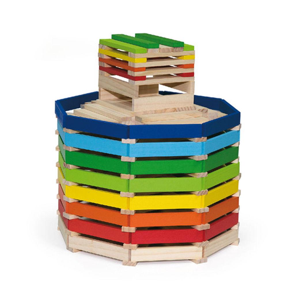 Φτιάξτε υπέροχες κατασκευές με αυτά ξύλινα τουβλάκια