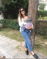 Στη Ρώμη με την μόλις πέντε μηνών κόρη της η γνωστή παρουσιάστρια