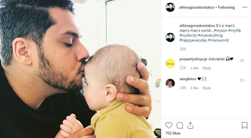 Αθηναγόρας Κωστάκος: Η τρυφερή φωτογραφία του γνωστού σεφ με τον νεογέννητο γιο του (pics)