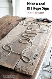 Με ένα κομμάτι ξύλο, σχοινί και φαντασία, μπορείτε να κάνετε θαύματα!