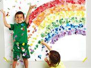 Παιδικό πάρτι με θέμα το ουράνιο τόξο. Τα πολλά και έντοντα χρώματα πάντα ενθουσιάζουν τα παιδιά.