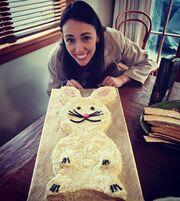 H Jacinda Ardern ανήμερα των πρώτων γενεθλίων της κόρης της.