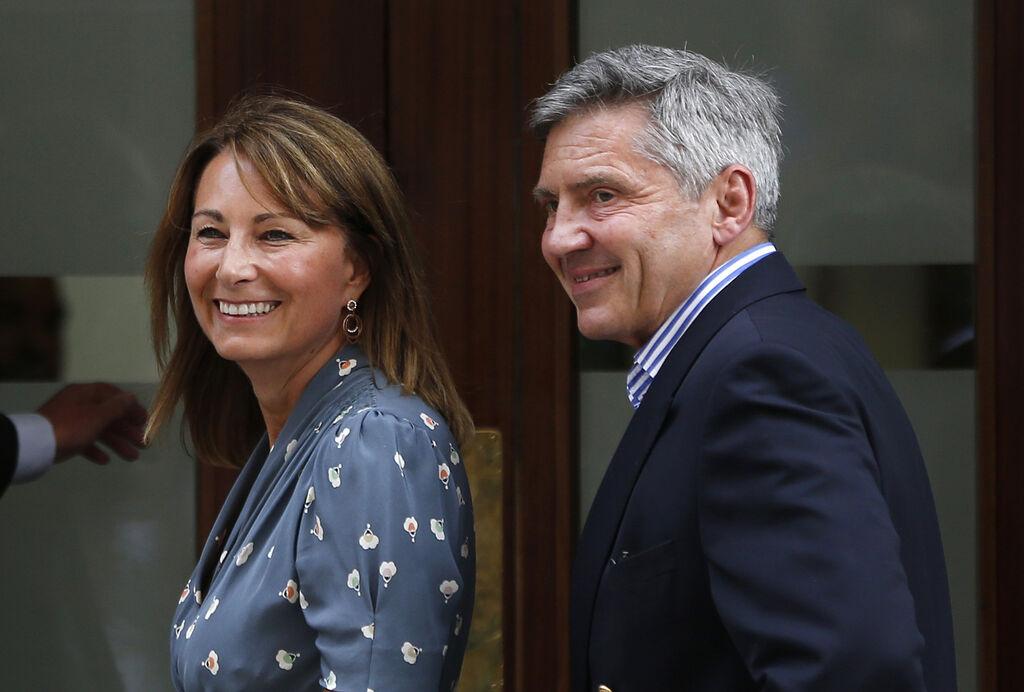 H Carole με τον σύζυγό της