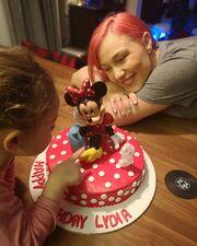 Στα γενέθλια της Λυδίας, το Φεβρουάριο, που έκλεισε τα 3 της χρόνια.