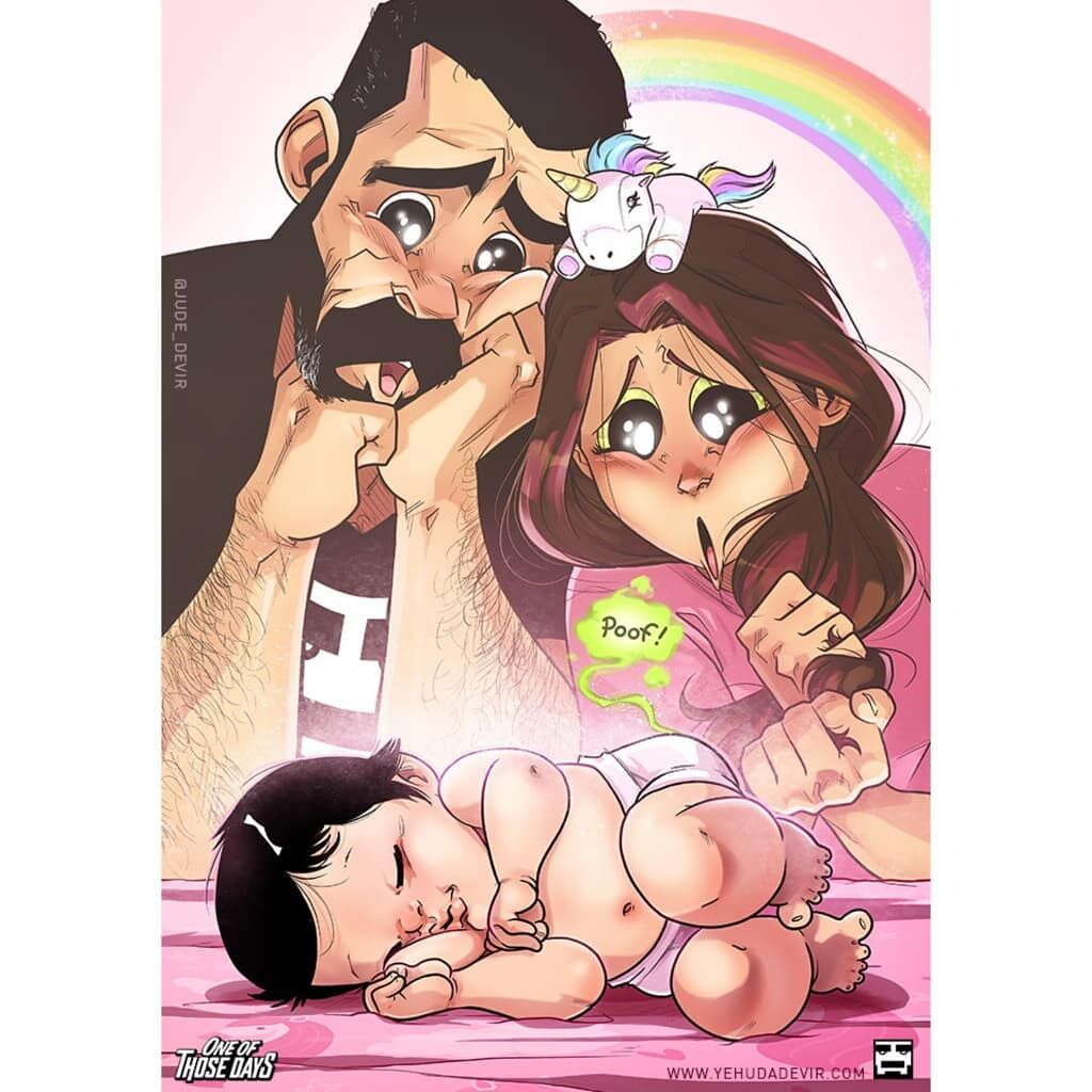 Μπαμπάς απεικονίζει τους πρώτους μήνες με το μωρό σε εννέα υπέροχα σκίτσα (pics)