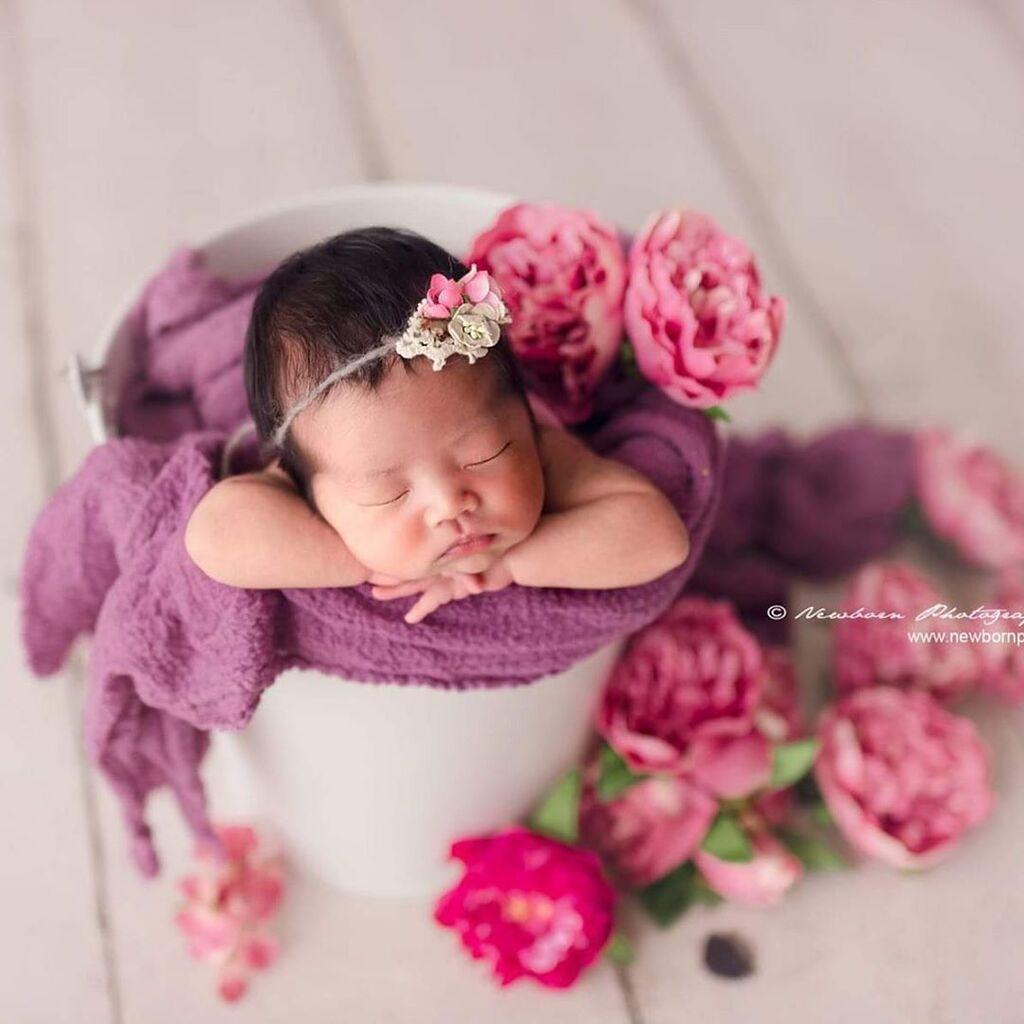 Νεογέννητα μωράκια φωτογραφίζονται σε λουλουδένιο ντεκόρ και είναι πανέμορφα (pics)