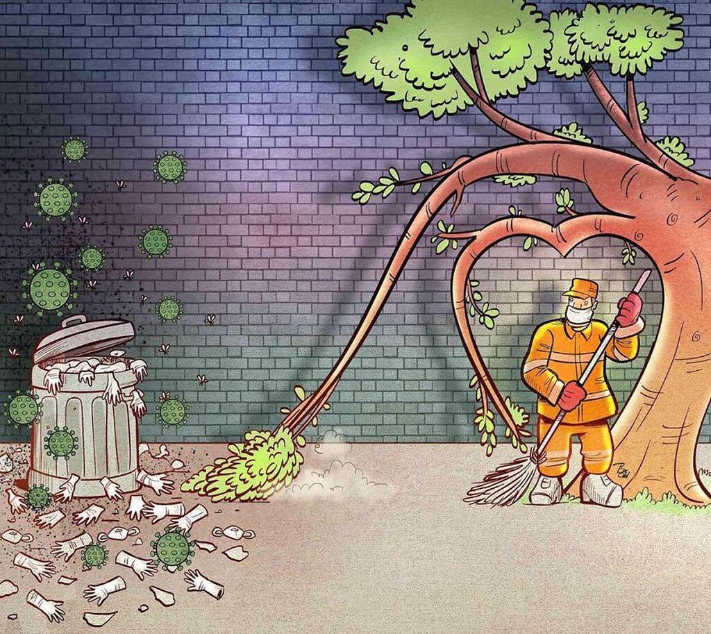 Κορονοϊος: Καλλιτέχνης αποτυπώνει σε σκίτσα τη σκληρή καθημερινότητα των γιατρών εν μέσω πανδημίας
