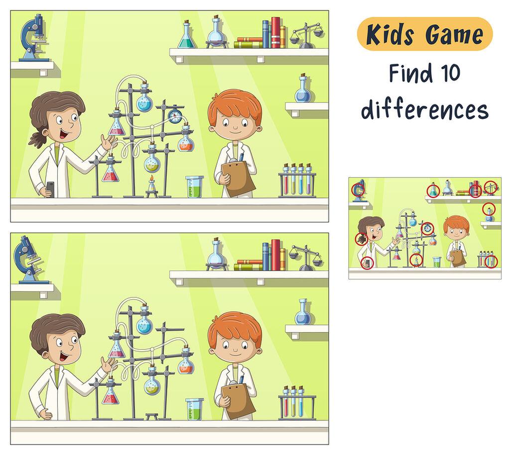 Βρες τις διαφορές - Διασκεδαστική δραστηριότητα για μικρά παιδιά