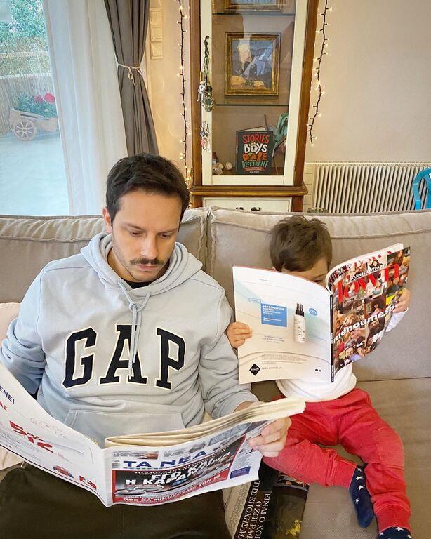 Δημήτρης  Μακαλιάς - Αντιγόνη Ψυχράμη: Πήραν τον γιο τους και πήγαν την πιο ωραία βόλτα (pics)