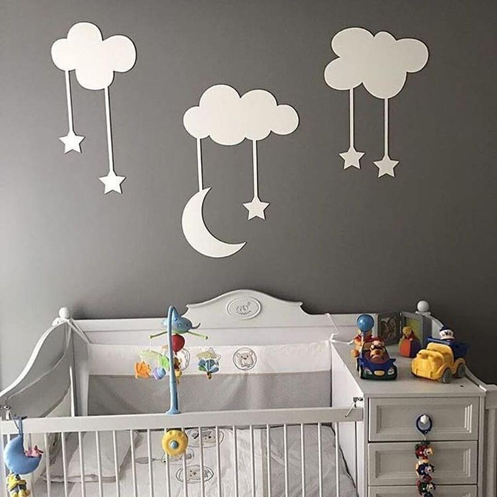 Βρεφικό δωμάτιο: Πρωτότυπες ιδέες για να διακοσμήσετε τους τοίχους (pics)