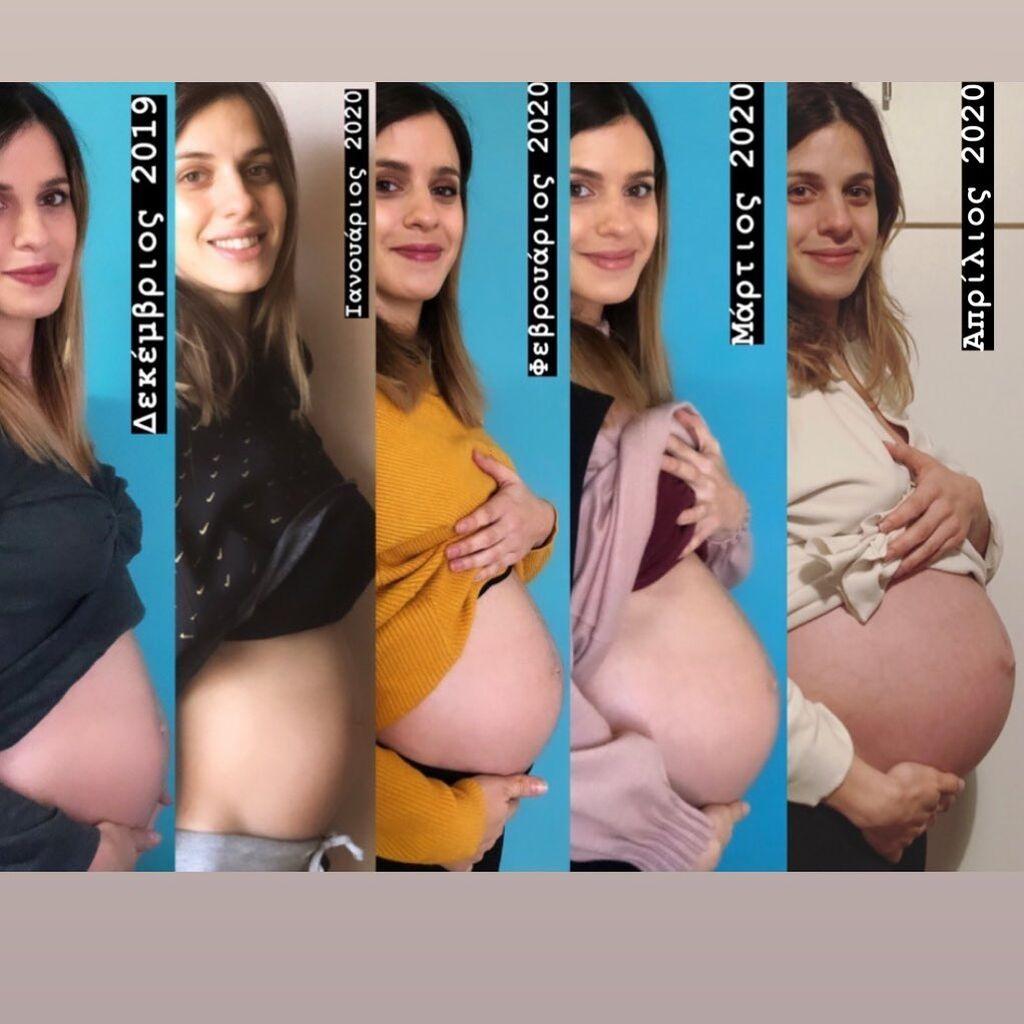 Ελληνίδα ηθοποιός ανέβασε αυτήν την timelapse φώτο απ'την εγκυμοσύνη της