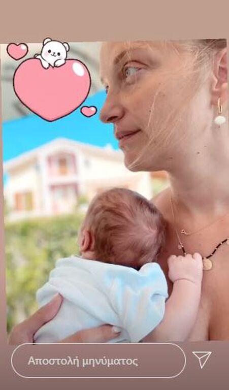Λένα Δροσάκη: Αυτή η φωτογραφία με το μωρό της μας έκανε να... λιώσουμε