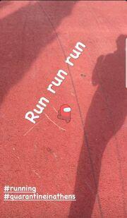 Η Σία Κοσιώνη πήγε για τρέξιμο...