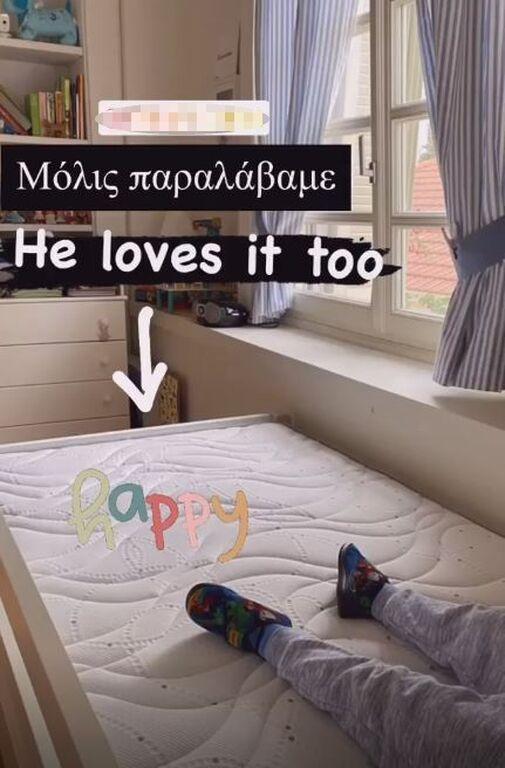 Μαριέττα Χρουσαλά: Μας δείχνει το παιδικό δωμάτιο του γιου της (pics)