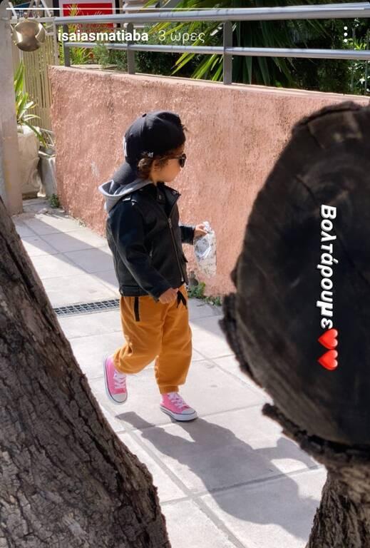 Ησαΐας Ματιάμπα: Δείτε πώς φωτογράφισε τον γιο του (pics)