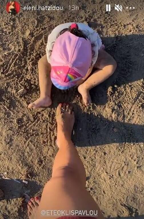 Ελένη Χατζίδου: Τι έκανε η κόρη της όταν πήγαν στην παραλία