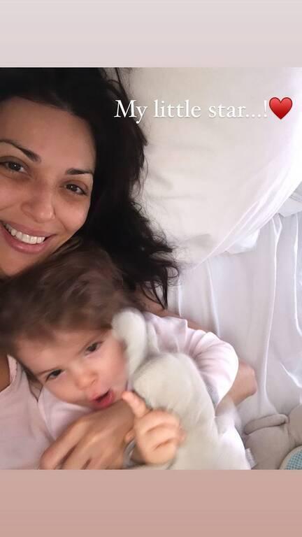 Σίσσυ Φειδά: Μας έδειξε τη ζωγραφιά της κόρης της - Δείτε τι έφτιαξε