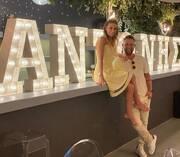Φωτογραφία που ο Γιάννης Βαρδής και η Νατάσα Σκαφίδα ευχαρίστησαν τους φίλους τους για τις ευχές.