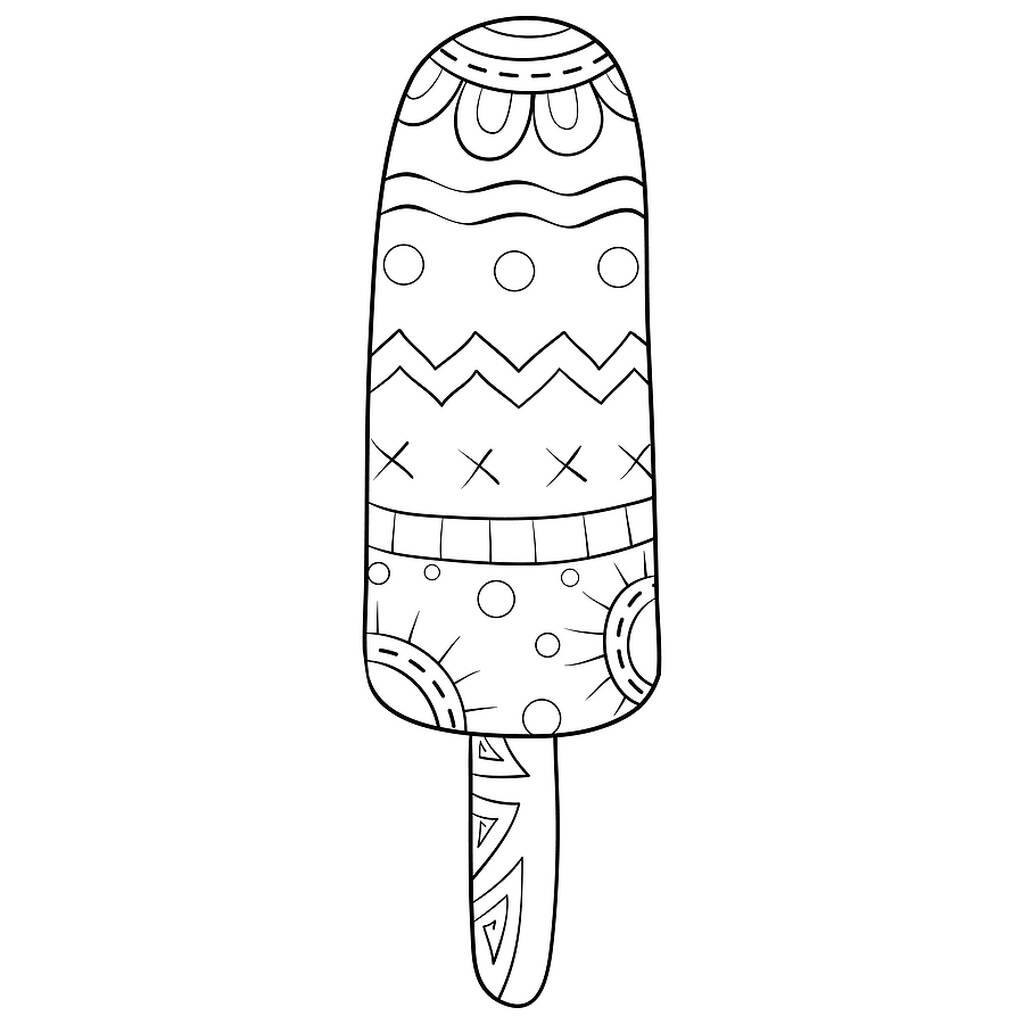 Δεκαπέντε χρωμοσελίδες με παγωτά (εικόνες για εκτύπωση)