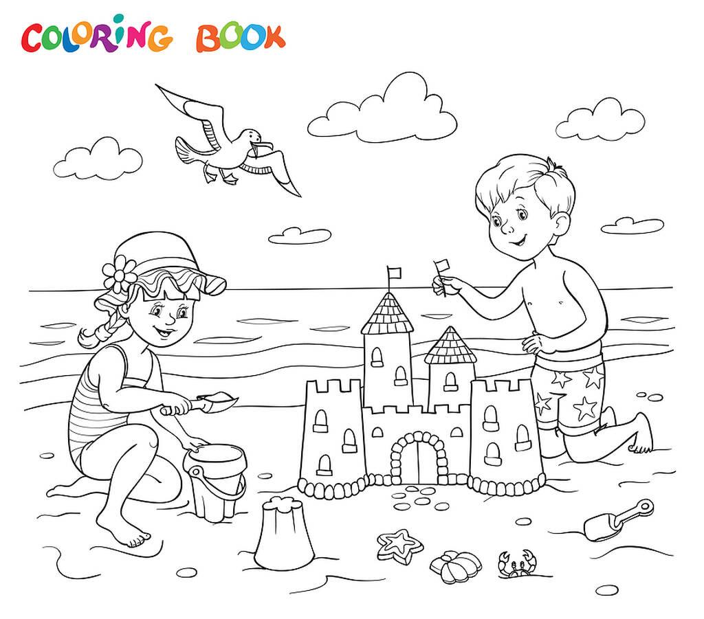 Έντεκα χρωμοσελίδες για παιδιά - Ζωγραφίζουμε την παραλία και τη θάλασσα