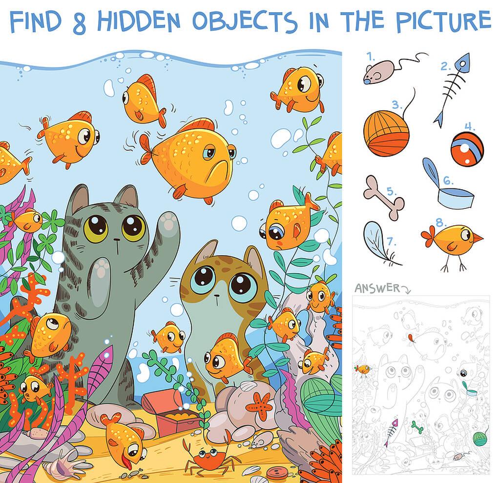 Βρείτε τα κρυμμένα αντικείμενα: Δραστηριότητες για εκτύπωση