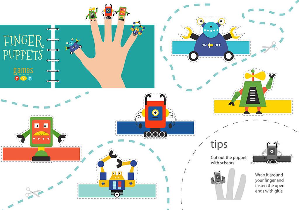 Δαχτυλόκουκλες από χαρτόνι - Εκτυπώστε, κολλήστε και παίξτε
