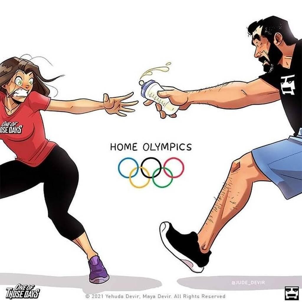 Όταν η ζωή των γονιών θυμίζει κάτι από Ολυμπιακούς Αγώνες - Δείτε σκίτσα