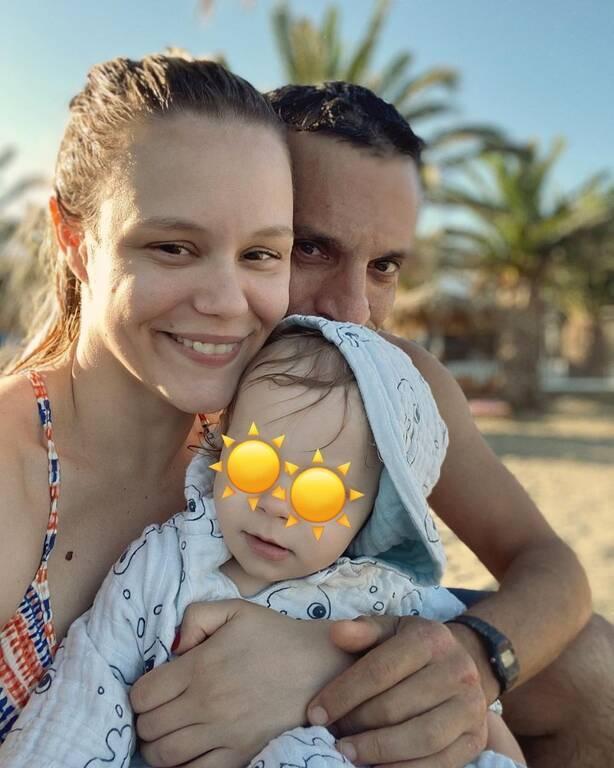 Χρανιώτης - Αβασκαντήρα: Η τρυφερή φωτογραφία με τον γιο τους στην Τήνο