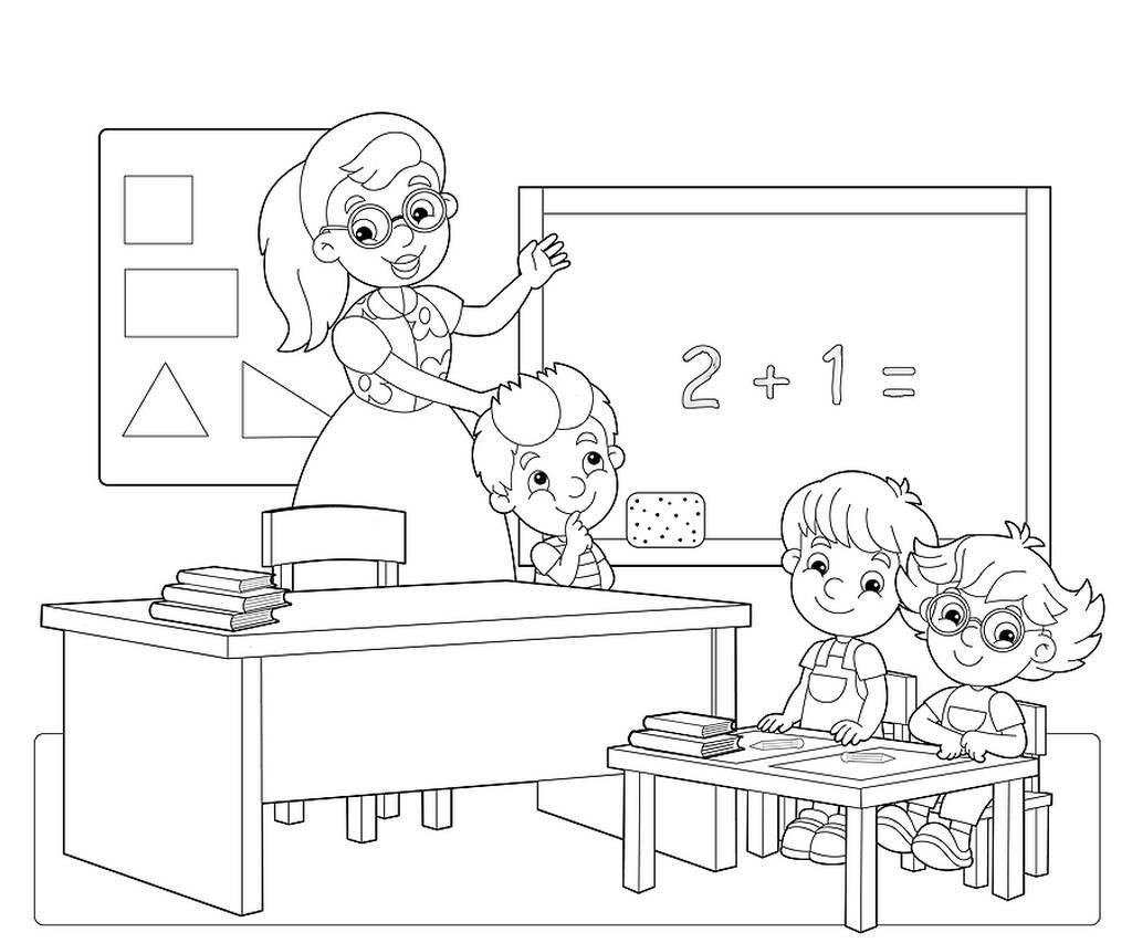 Επιστροφή στο σχολείο: Χρωμοσελίδες με θέμα το σχολείο