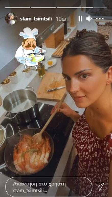 Σταματίνα Τσιμτσιλή: Μαγειρεύει αγκαλιά με τον γιο της - Υπέροχες φώτο
