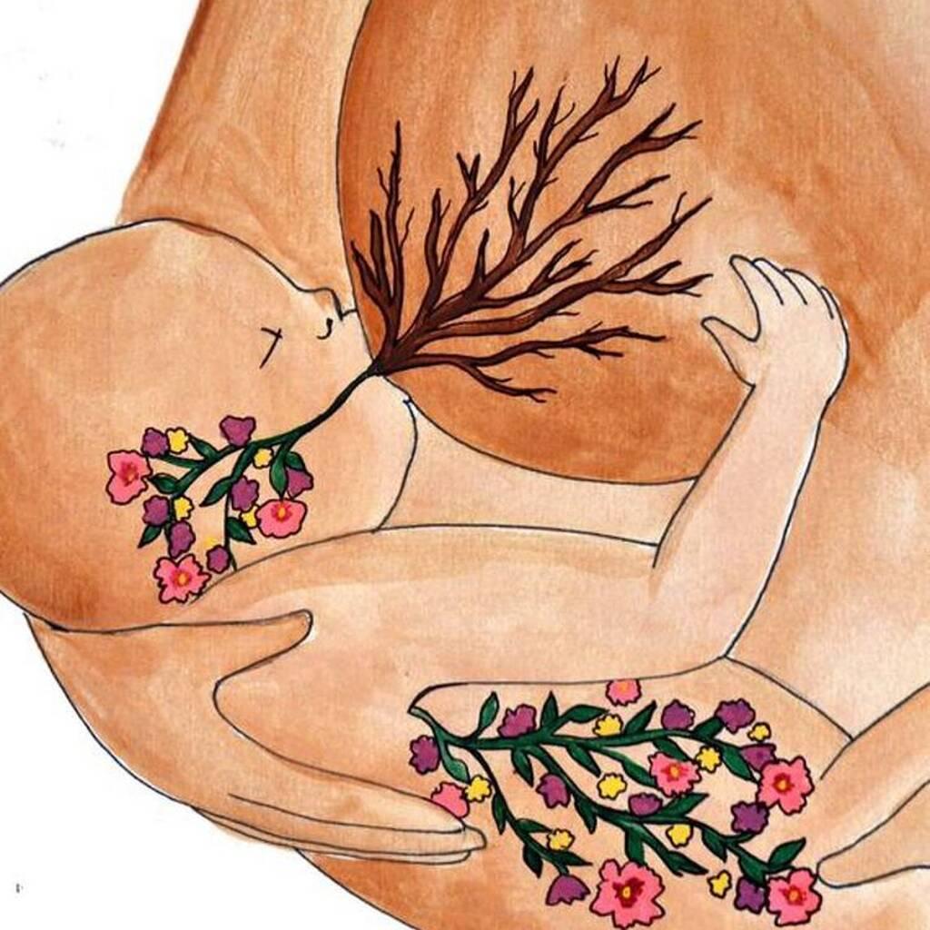 Η μαγεία και οι στιγμές του θηλασμού μέσα από υπέροχα σκίτσα