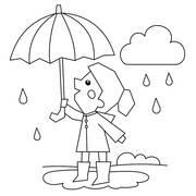 Χρωμοσελίδες για παιδιά - Ζωγραφίζοντας τη βροχή