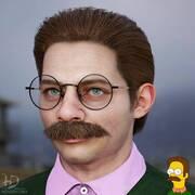 O Ned Flanders από τους  Simpsons