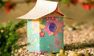 Φτιάξτε διακοσμητικά σπιτάκια από κουτιά γάλακτος