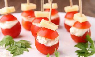 Γεμιστά ντοματίνια με τυρί κρέμα για παιδικό πάρτι!