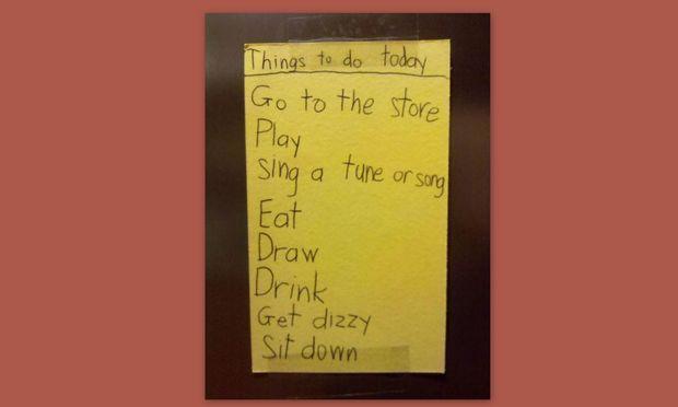 Η λίστα ενός πιτσιρικά για τις… υποχρεώσεις του σε μια μέρα