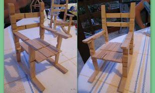 Φτιάξτε ξύλινα καρεκλάκια από μπανταλάκια