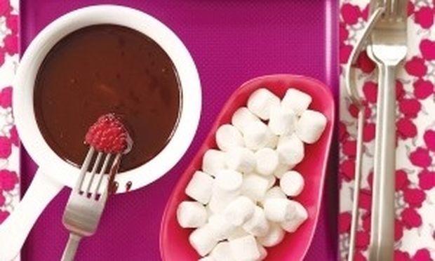 Γευστικό dip ζεστής σοκολάτας