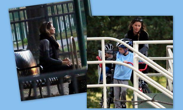 Gisele Bundchen:Για ποδήλατο με το γιο της!