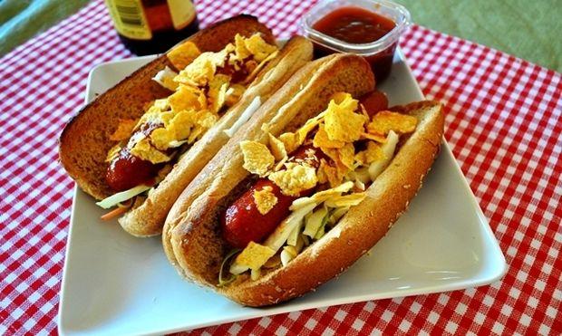 Hot Dog με σος μπάρμπεκιου!