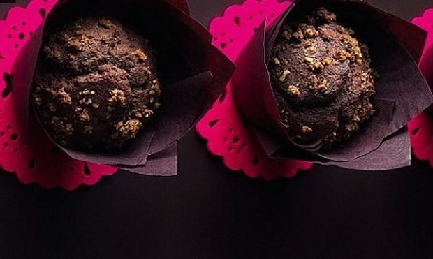 Muffin σοκολάτας με φιστίκια