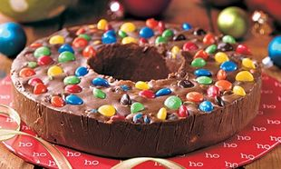 Σοκολάτα fudge με μπισκότο και καραμέλα!