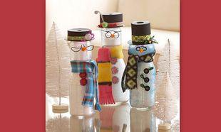 Χειροποίητα χιονανθρωπάκια σε… μπουκάλι!