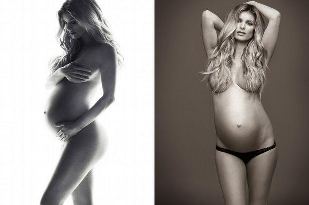 Η Marisa Miller ποζάρει έγκυος και γυμνή ως άλλη Demi Moore