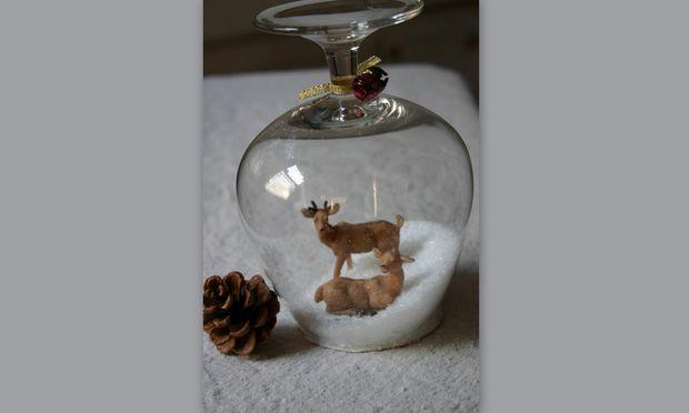 Χριστουγεννιάτικα διακοσμητικά στο… ποτήρι!