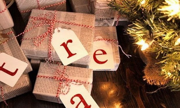 Τυλίξτε τα δώρα της Πρωτοχρονιάς με… εφημερίδες!