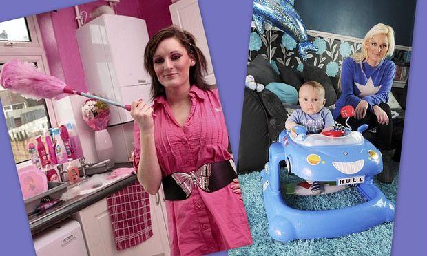 Απίστευτο: Άλλαξε το χρώμα σε όλο της το σπίτι όταν απέκτησε αγόρι!