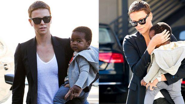 Charlize Theron: Τρυφερές στιγμές με τον γιο της!